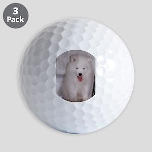 puppy samoyed Golf Ball