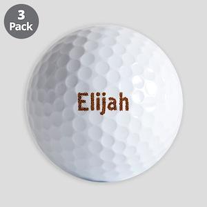 Elijah Fall Leaves Golf Balls