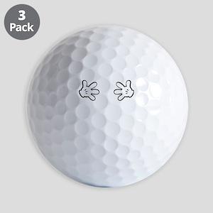 Mickey hands Golf Balls