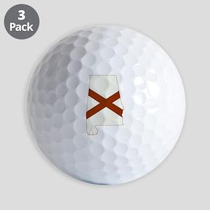 Alabama Flag Golf Balls