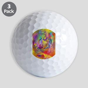 Abstract Banana Golf Ball