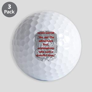 No No The Adventures First - L Carroll Golf Ball