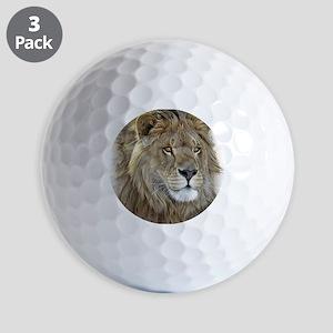 lion-portrait-t-shirt Golf Balls