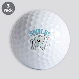 Smile Dentist Dental Hygiene Golf Balls