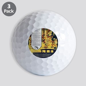1927 Studebaker Roman Orgy Scene Golf Balls