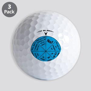 IT Wheel of Answers Golf Balls