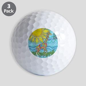 African Rainbow Golf Balls