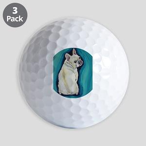 White French Bulldog Golf Balls