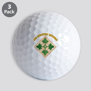SSI - 4th Infantry Division with text Golf Balls
