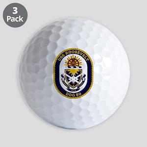 USS Roosevelt DDG-80 Golf Balls