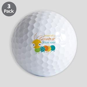World's Greatest Childcare Worker Golf Balls