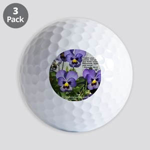 PAnsies with Proverb Golf Balls