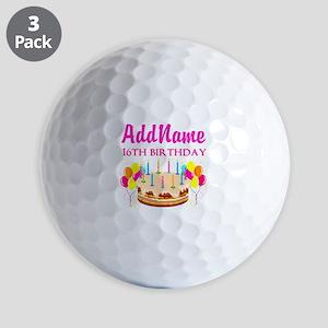 16TH BIRTHDAY Golf Balls