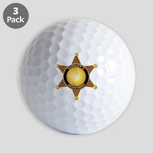 Sheriff's Department Badge Golf Balls
