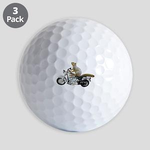 Motorcycle Squirrel Golf Balls