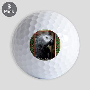 African Grey Parrot Golf Balls