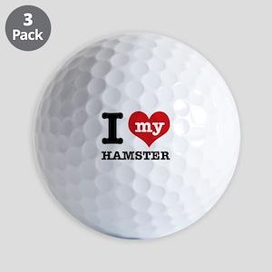 I heart Hamster designs Golf Balls