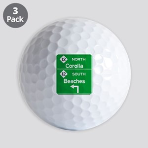 Outer Banks Route 12 Sign Golf Balls