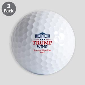 Trump Wins Golf Balls