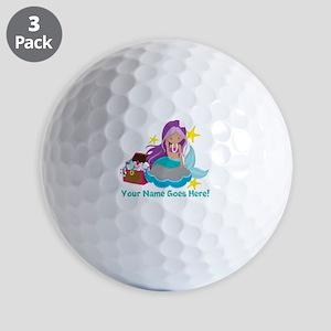 Purple Mermaid Ball Golf Balls