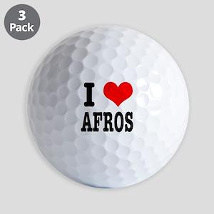 I Heart (Love) Afros Golf Balls