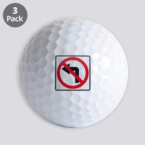 No Left Turn Golf Balls