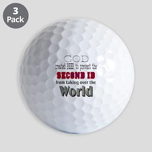 God Beer &Amp; The 2ID Golf Balls