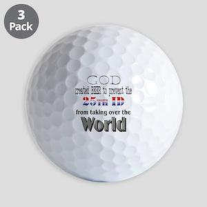 25Th ID &Amp; Beer Golf Balls