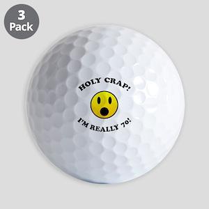 Holy Crap I'm 70! Golf Balls