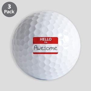 Hello, I'm Awesome Golf Balls
