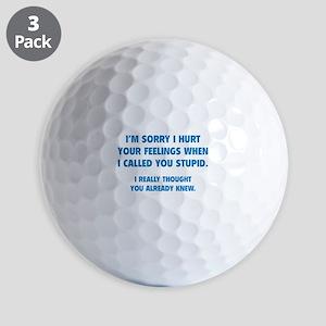 I'm Sorry Golf Balls