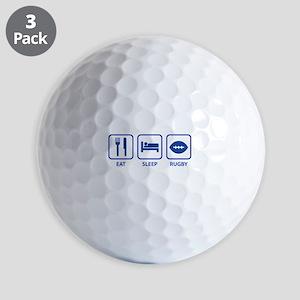 Eat Sleep Rugby Golf Balls