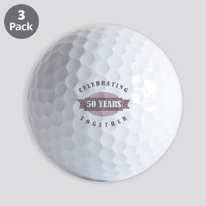 Vintage 50th Anniversary Golf Balls