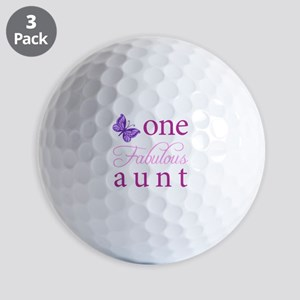 One Fabulous Aunt Golf Balls