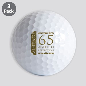 Fancy Vintage 65th Birthday Golf Balls