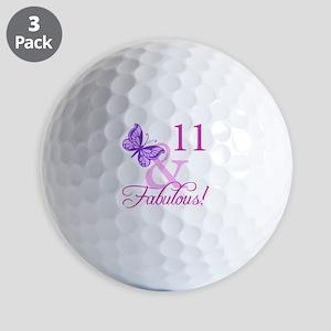 Fabulous 11th Birthday For Girls Golf Balls