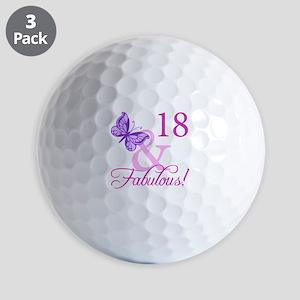 Fabulous 18th Birthday For Girls Golf Balls