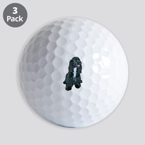 Cocker (black- white bib) Golf Balls