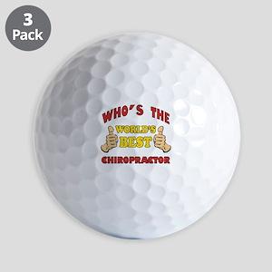 Thumbs Up Worlds Best Chiropractor Golf Balls