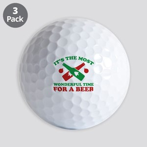 It's The Most Wonderful Time For A Beer Golf Balls