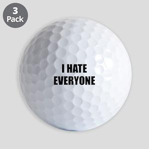 I Hate Everyone Golf Balls