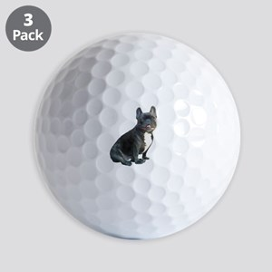 French Bulldog (blk)1 Golf Balls