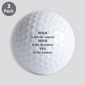 Beer Is Not The Answer Golf Balls