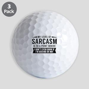 My Level Of Sarcasm Golf Balls