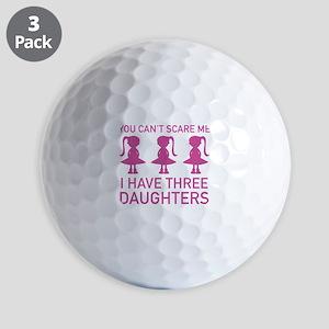 I Have Three Daughters Golf Balls