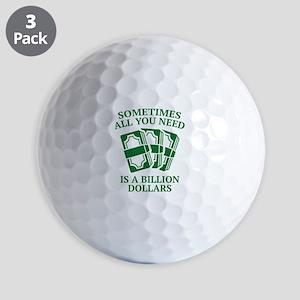 A Billion Dollars Golf Balls