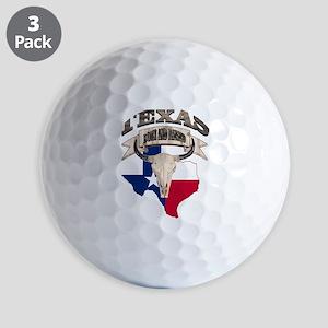 Bull Skull Texas home Golf Balls