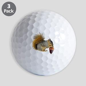 Squirrel Eating Acorn Golf Ball