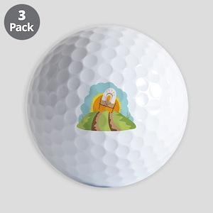 Covered Wagon Golf Ball