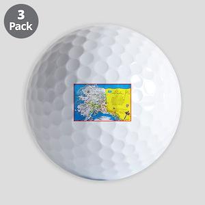 Alaska Map Greetings Golf Balls